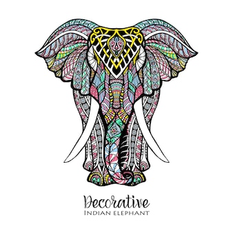 Illustrazione colorata elefante