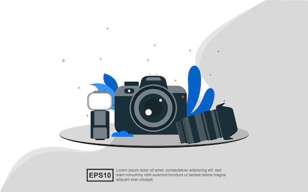 Illustrazione concetto di fotografia.