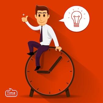Illustrazione concetto di tempo managemnet
