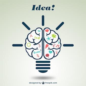 Illustrazione creativa del cervello