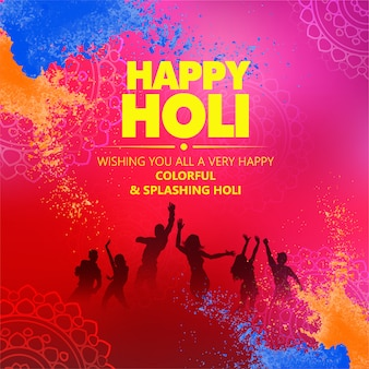 Illustrazione creativa del poster di happy holi