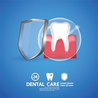 Illustrazione creativa di cure odontoiatriche.