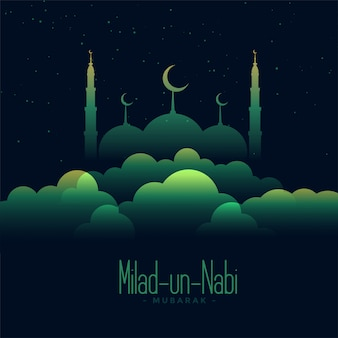 Illustrazione creativa di eid milad un nabi festival