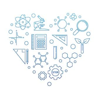 Illustrazione creativa di scienza, tecnologia, ingegneria e matematica