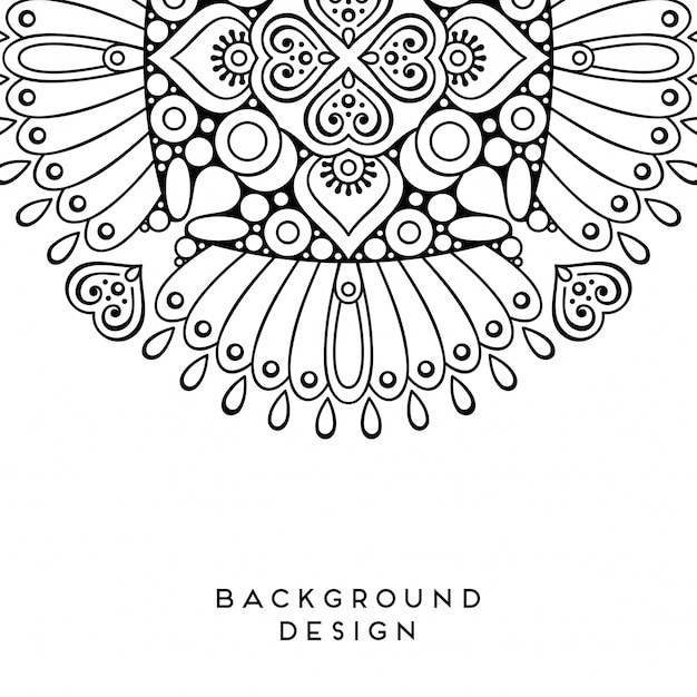 Illustrazione da colorare mandala