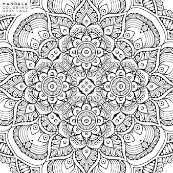 Illustrazione decorativa dettagliata della mandala
