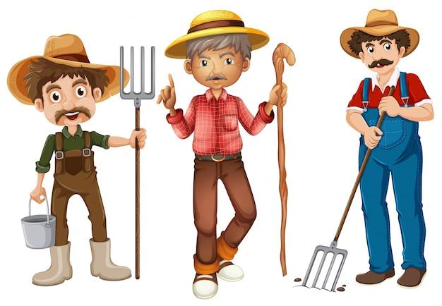 Illustrazione degli agricoltori impostati