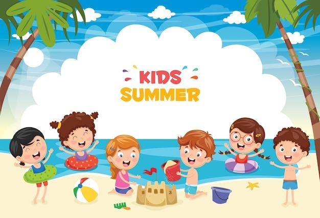 Illustrazione dei bambini di estate