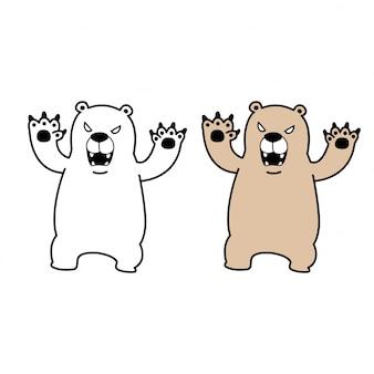 Illustrazione dei cartoni animati di orso