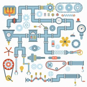 Illustrazione dei pezzi meccanici
