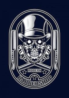 Illustrazione del barbiere per t-shirt