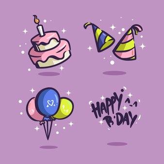 Illustrazione del bene della festa di compleanno