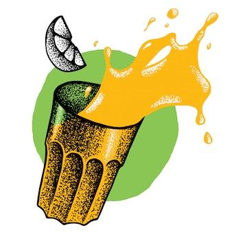 Illustrazione del bicchiere di juce