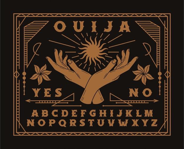 Illustrazione del bordo di ouija
