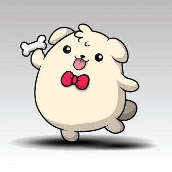 Illustrazione del cane dei cartoni animati