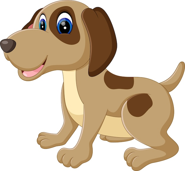Illustrazione del cartone animato cane carino