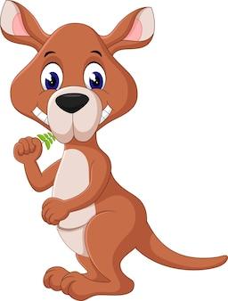 Illustrazione del cartone animato carino canguro