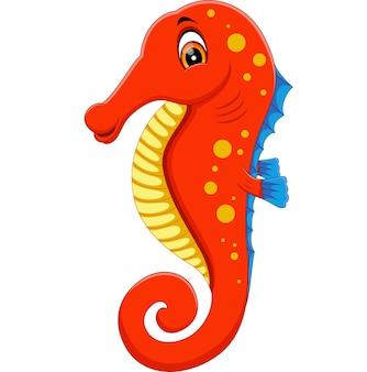 Illustrazione del cartone animato carino cavalluccio marino
