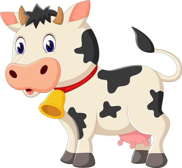 Illustrazione del cartone animato carino mucca