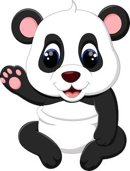 Illustrazione del cartone animato carino panda del bambino