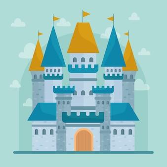 Illustrazione del castello da favola
