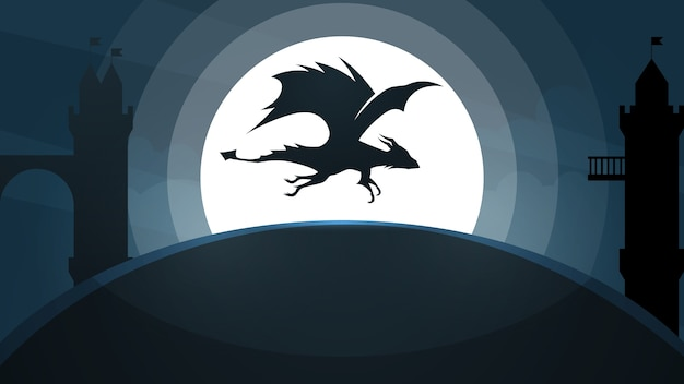Illustrazione del castello del drago