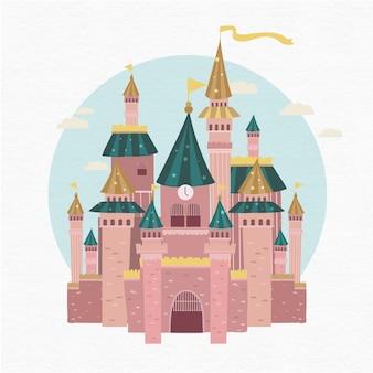 Illustrazione del castello di fiaba