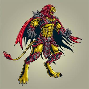 Illustrazione del cavaliere tigre