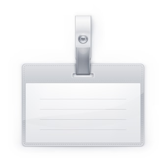 Illustrazione del classico badge id.