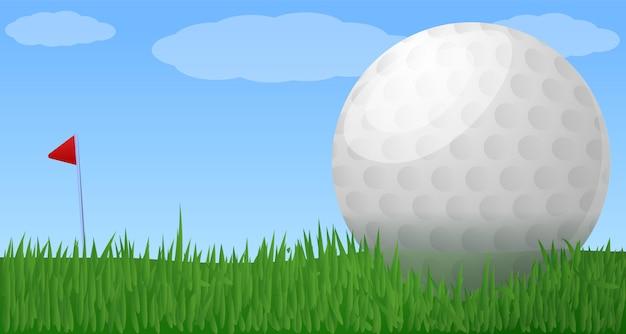 Illustrazione del club di golf, stile del fumetto
