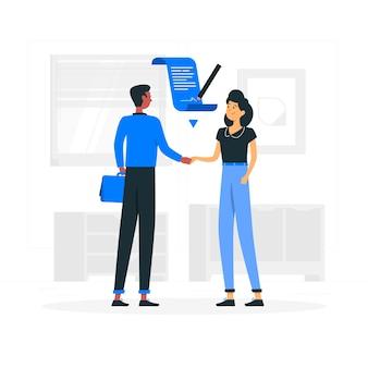 Illustrazione del concetto di accordo