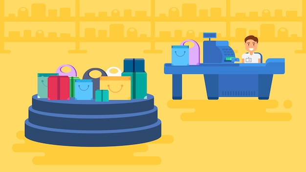 Illustrazione del concetto di acquisto