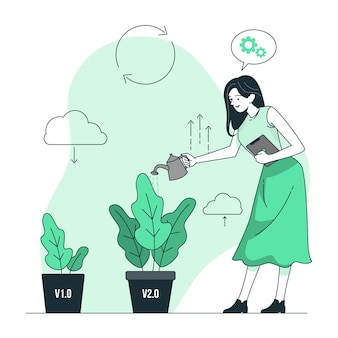 Illustrazione del concetto di aggiornamento