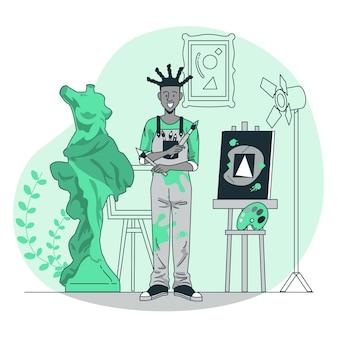 Illustrazione del concetto di artista