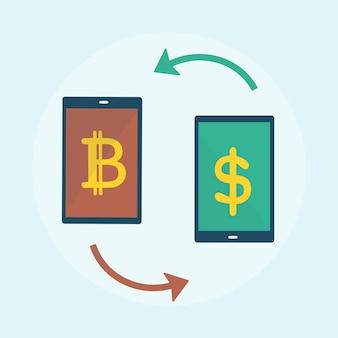Illustrazione del concetto di bitcoin