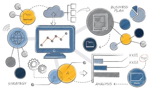 Illustrazione del concetto di business