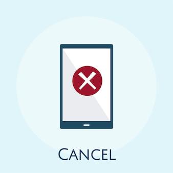 Illustrazione del concetto di cancellazione