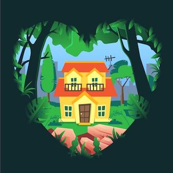 Illustrazione del concetto di casa dolce casa