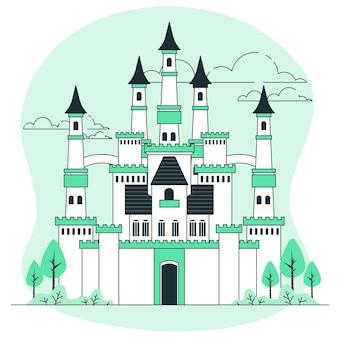 Illustrazione del concetto di castello