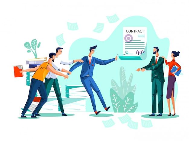 Illustrazione del concetto di conclusione del contratto