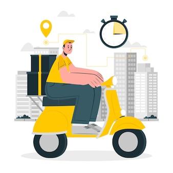 Illustrazione del concetto di consegna