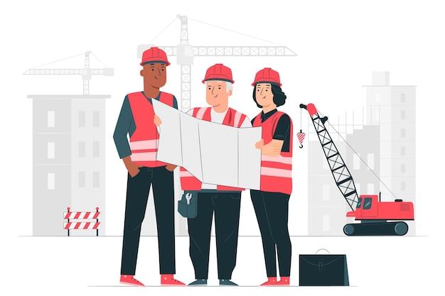 Illustrazione del concetto di costruzione