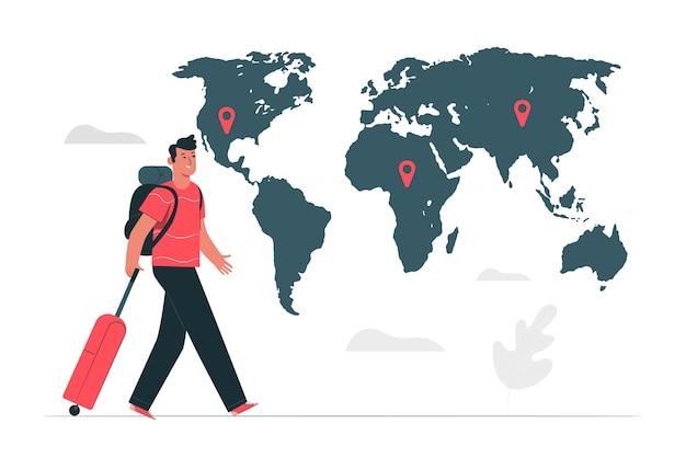 Illustrazione del concetto di destinazione