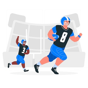 Illustrazione del concetto di football americano