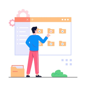 Illustrazione del concetto di gestione dei documenti