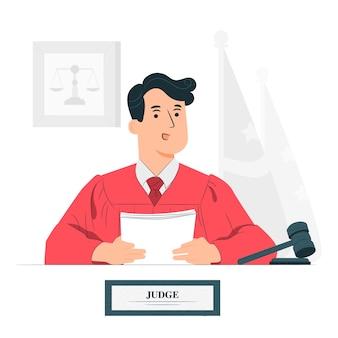 Illustrazione del concetto di giudice