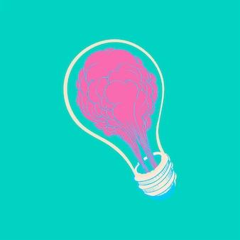 Illustrazione del concetto di idee creative dell'illustrazione della mano