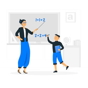 Illustrazione del concetto di insegnamento