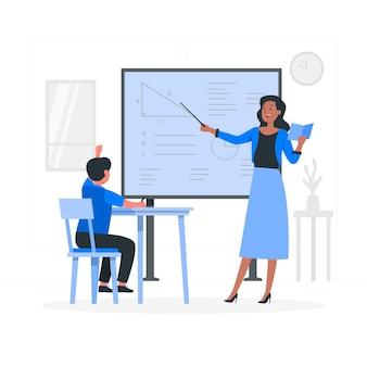 Illustrazione del concetto di insegnante