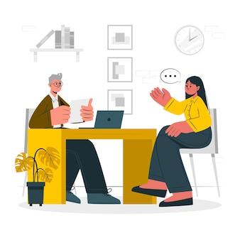 Illustrazione del concetto di intervista